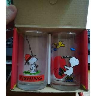 [日版] Snoopy Glasses (set of 2) - Fishing & Skating 史努比玻璃杯 (1套2個)