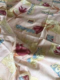 Peach floral fabric 4 metres