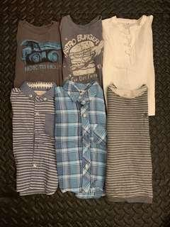 Bundle of tops for boys