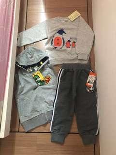 全新BB衛衣+連帽外套+長褲