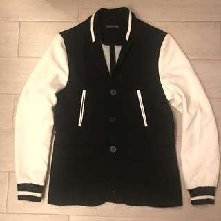 98% new Zara Men Baseball letterman varsity stadium Blazer