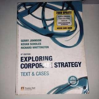 EXPLORING CORPORATE STRATEGY TEXT AND CASES  #CNY888