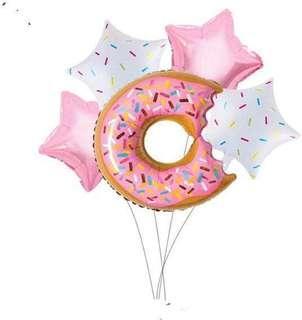 🚚 [New Stock] Doughnut foil balloons set
