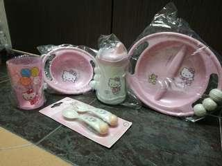 Sanrio Hello Kitty Bowl & Plate Set (6pcs)