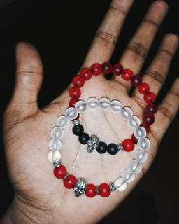 Skull Charm 8mm Beaded Bracelet 💀