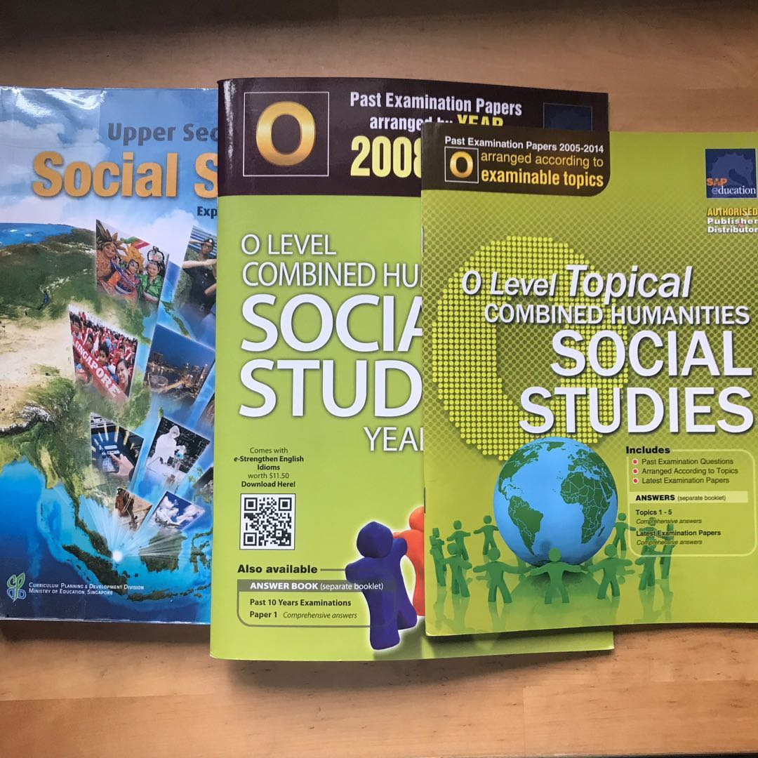 ✧ social studies notes, exam papers, assessment books