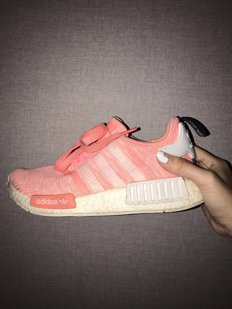 newest 456e8 ed7e5 Adidas salmon pink NMD R1, Women s Fashion, Shoes, Sneakers on Carousell