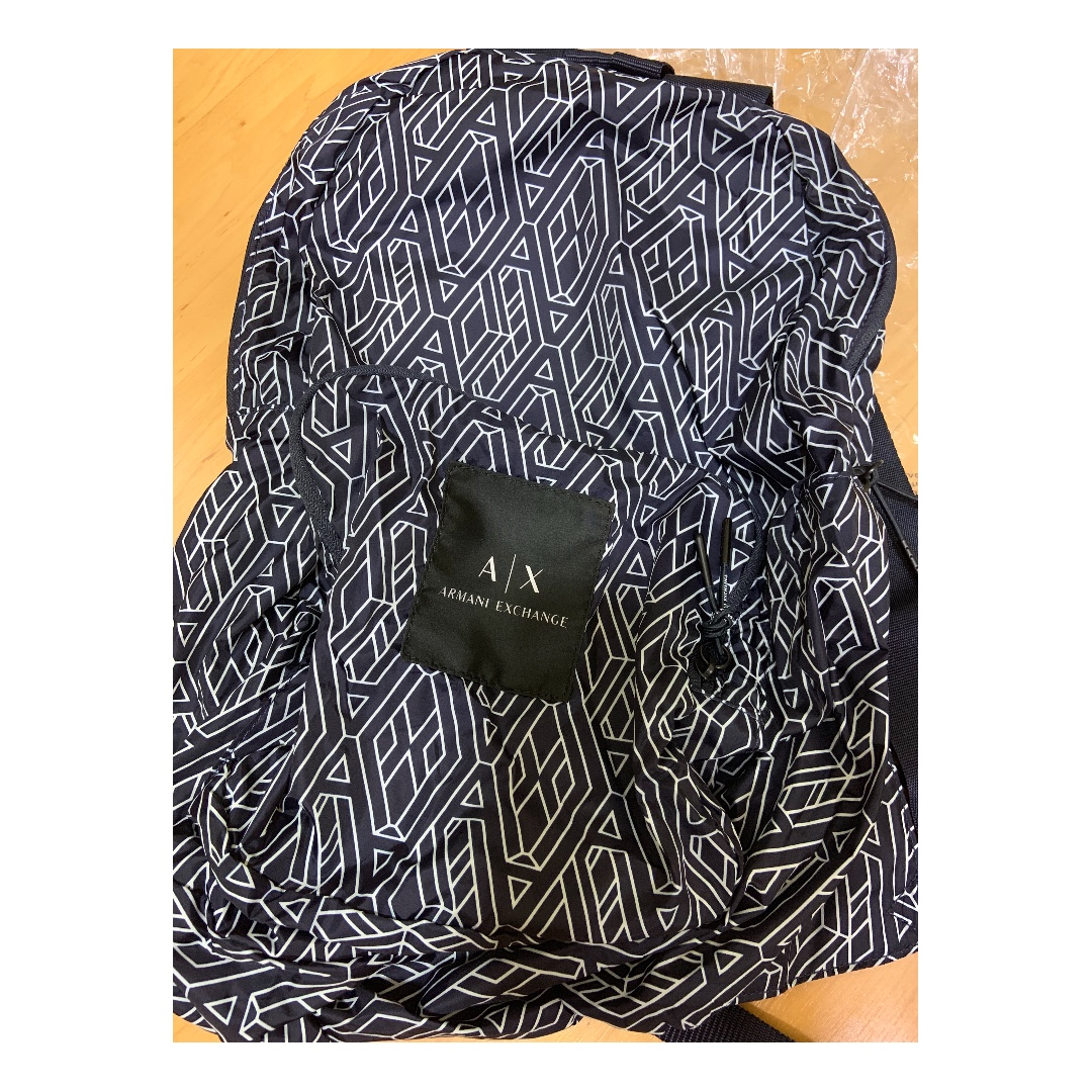 d8a52c68d46 Armani Exchange Geometric Logo Poly Backpack