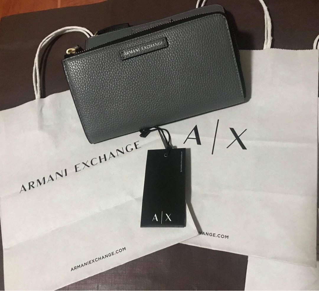 22ae58968c0b AUTHENTIC Armani Exchange Pebbled women s long wallet