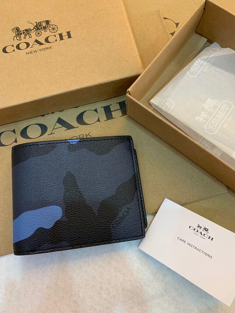 Authentic coach men 32438 men short purse with zip for coin