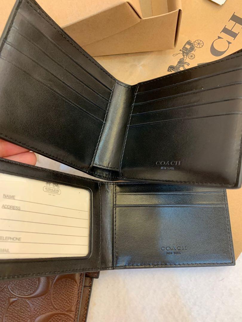Authentic coach men wallet purse 75371 brown n black