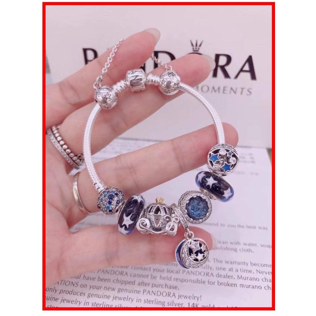 88dd52e5ccbc9 Authentic Pandora Bracelet Set 925 Sterling Silver Complete ...