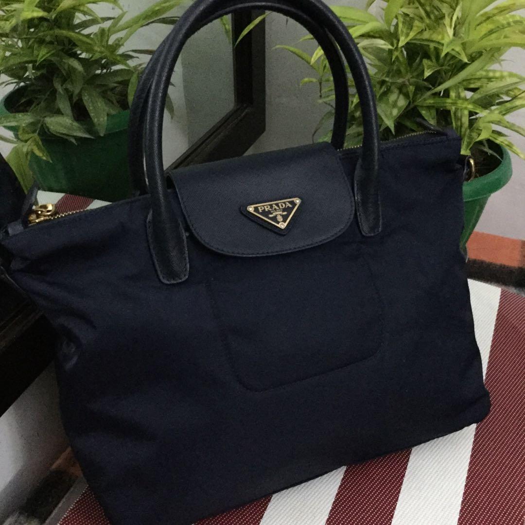 566138894e Authentic Prada Nylon Handbag Sling Bag