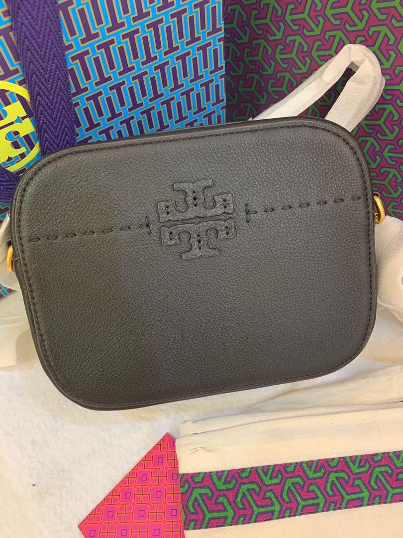 Authentic Tory Burch McGraw camera bag