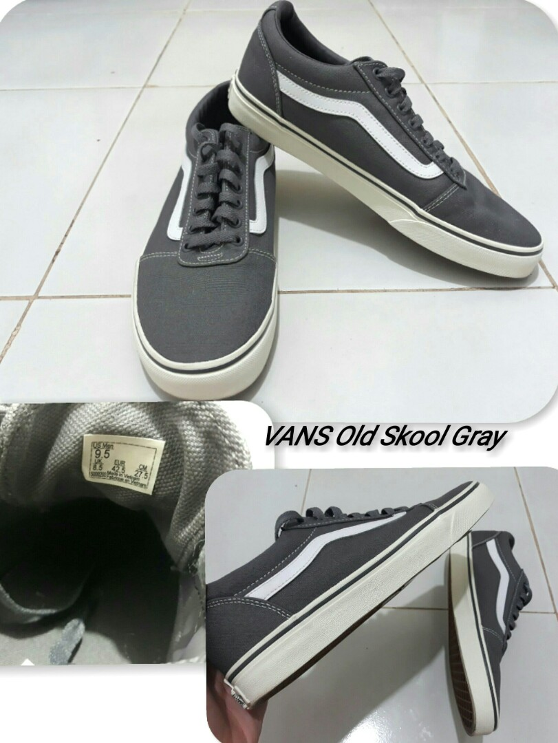 554fc40db71e AUTHENTIC VANS OFF THE WALL OLD SKOOL GRAY
