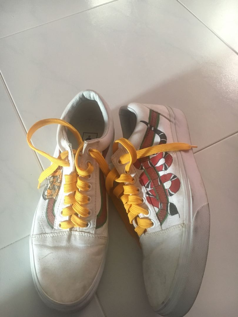 901f76b0f96877 AUTHENTIC WHITE VANS GUCCI SNAKE