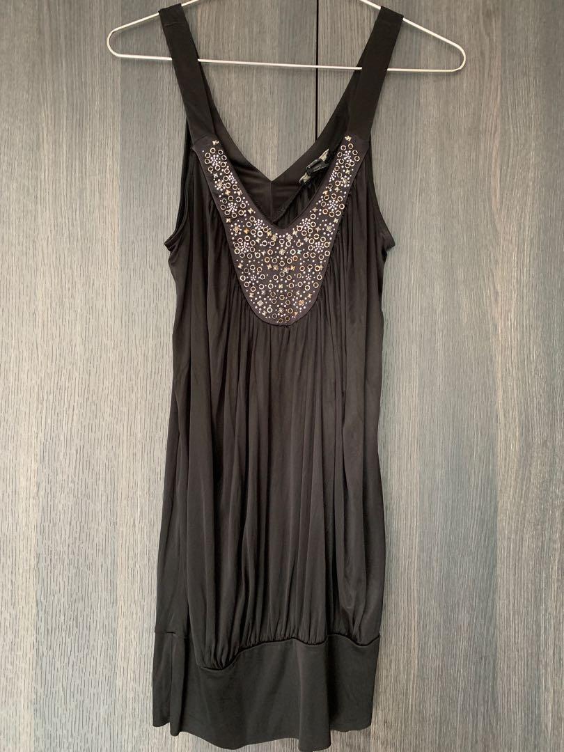 bd198d23f84 Black Mango sequin top tank dress