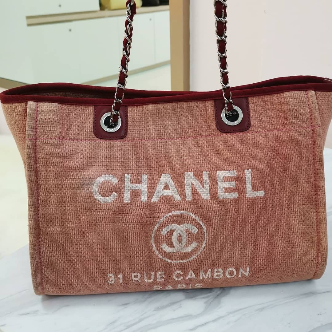 57ae65932c Chanel medium Deauville tote, Luxury, Bags & Wallets, Handbags on Carousell