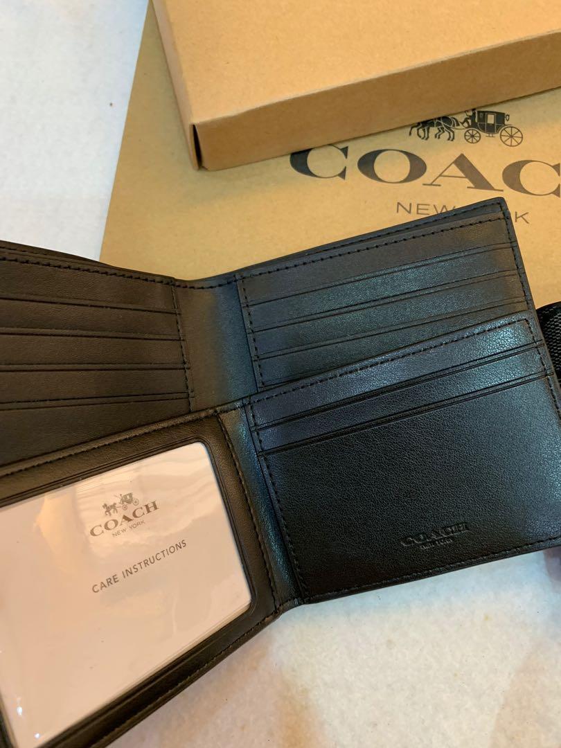 Coach Men's Wallet 74993 ready stock