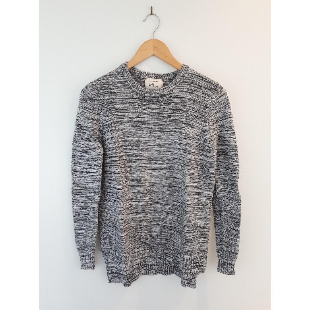 Cotton On Archy Pullover, Grey and Black Fleck, Size XS, BNWOT