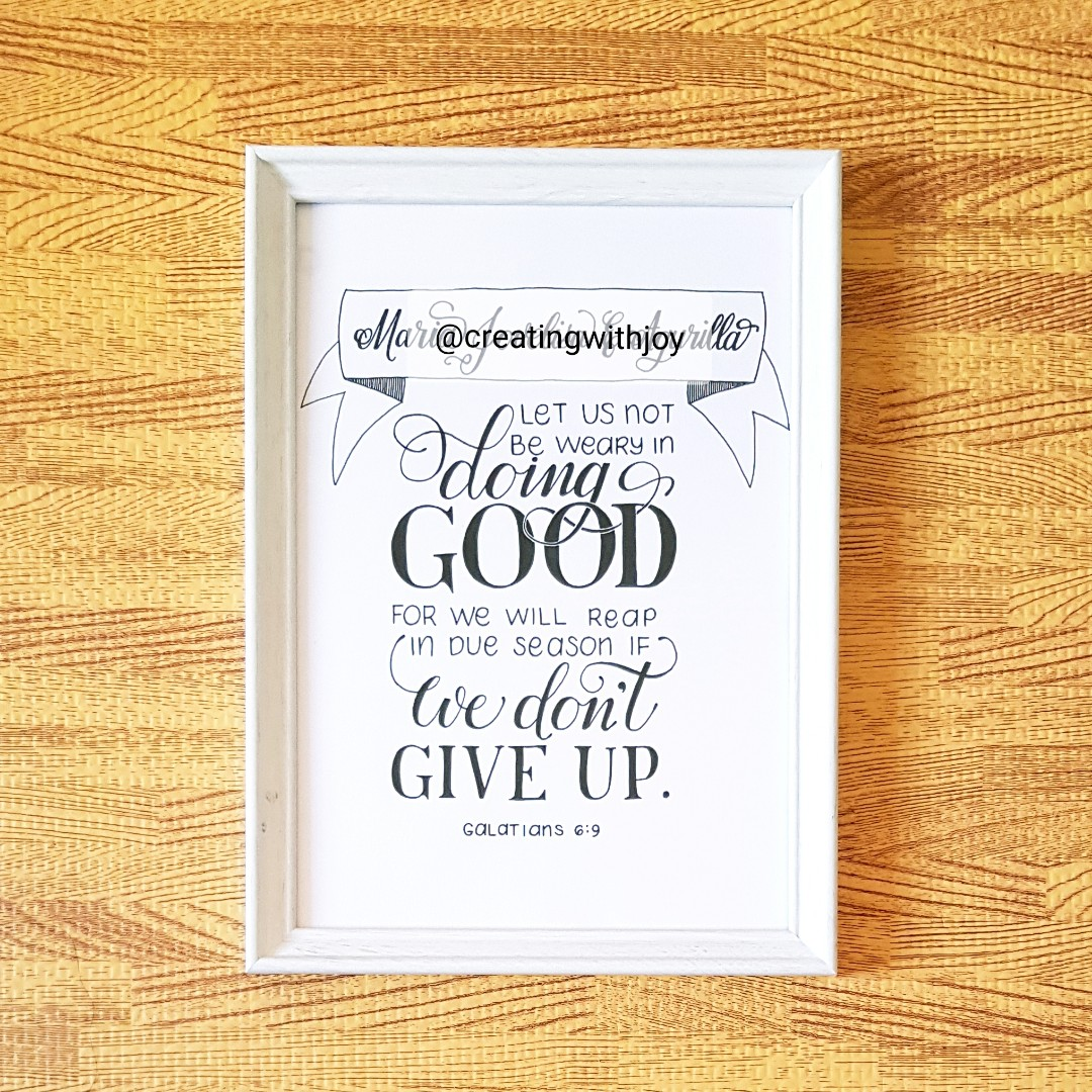 Custom Quote Bible Verse On A4 Size Frame For Wedding Birthday