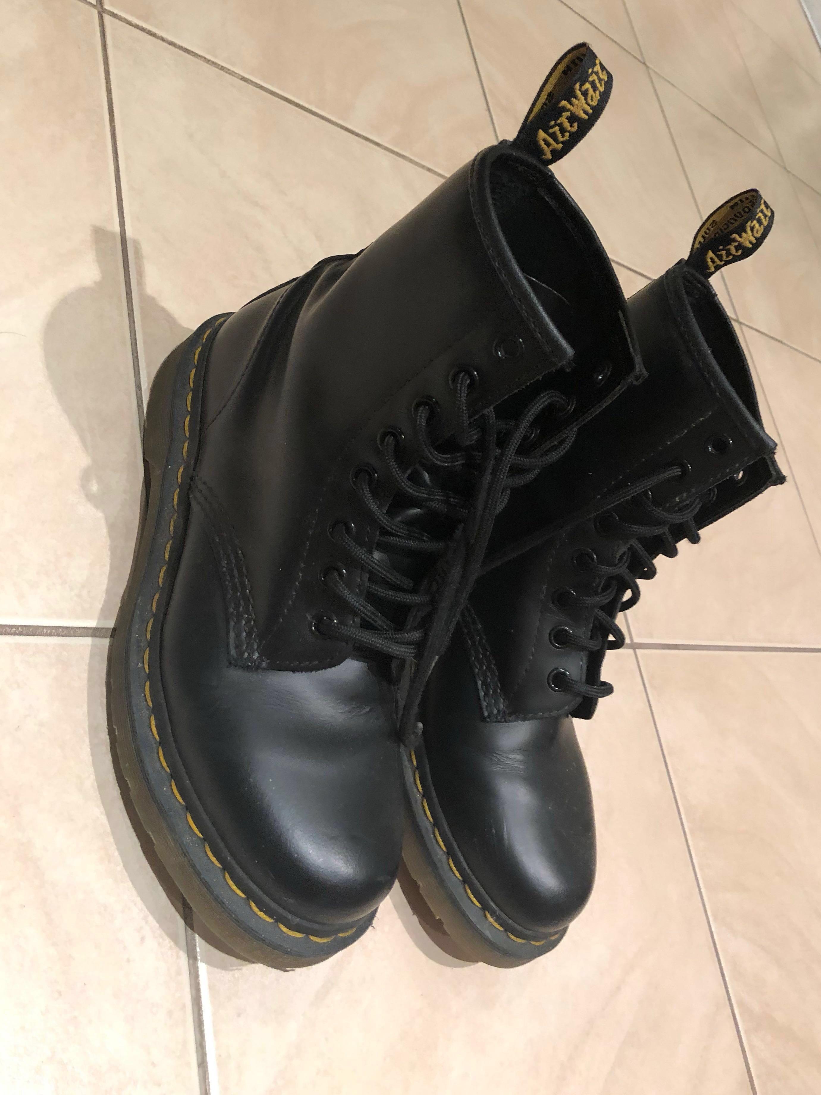 doc martens black leather