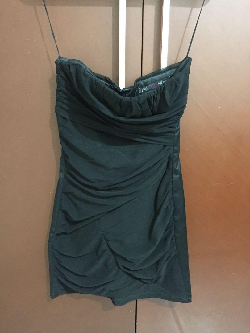 Mini Dress ZARA TRF Night Collection tanpa tali