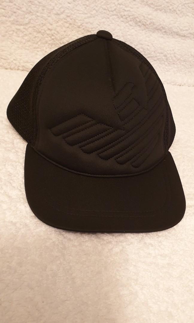 Final sale Emporio Armani black logo cap 4b94b9aaf25