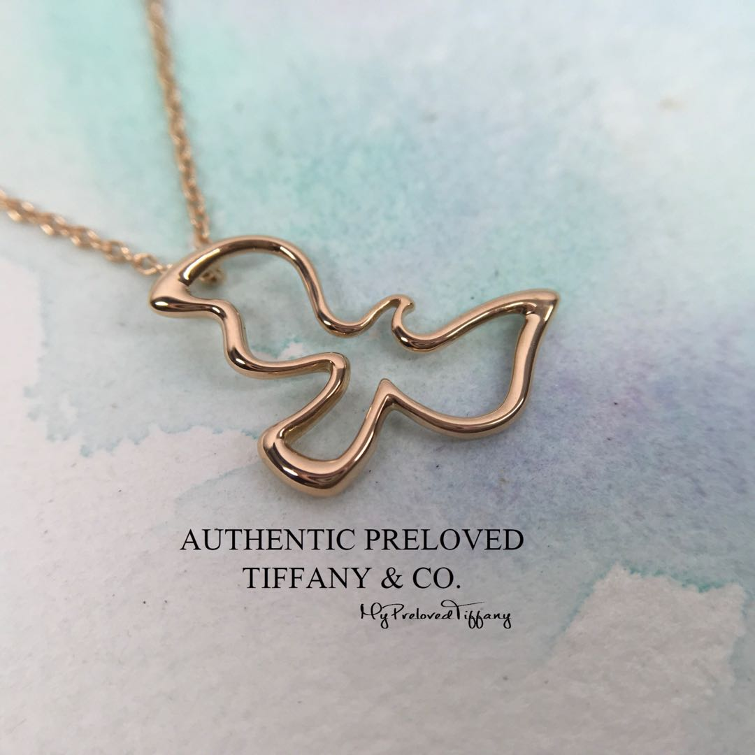 fed42260b Excellent Authentic Tiffany & Co. Paloma Picasso Dove Rose Gold ...