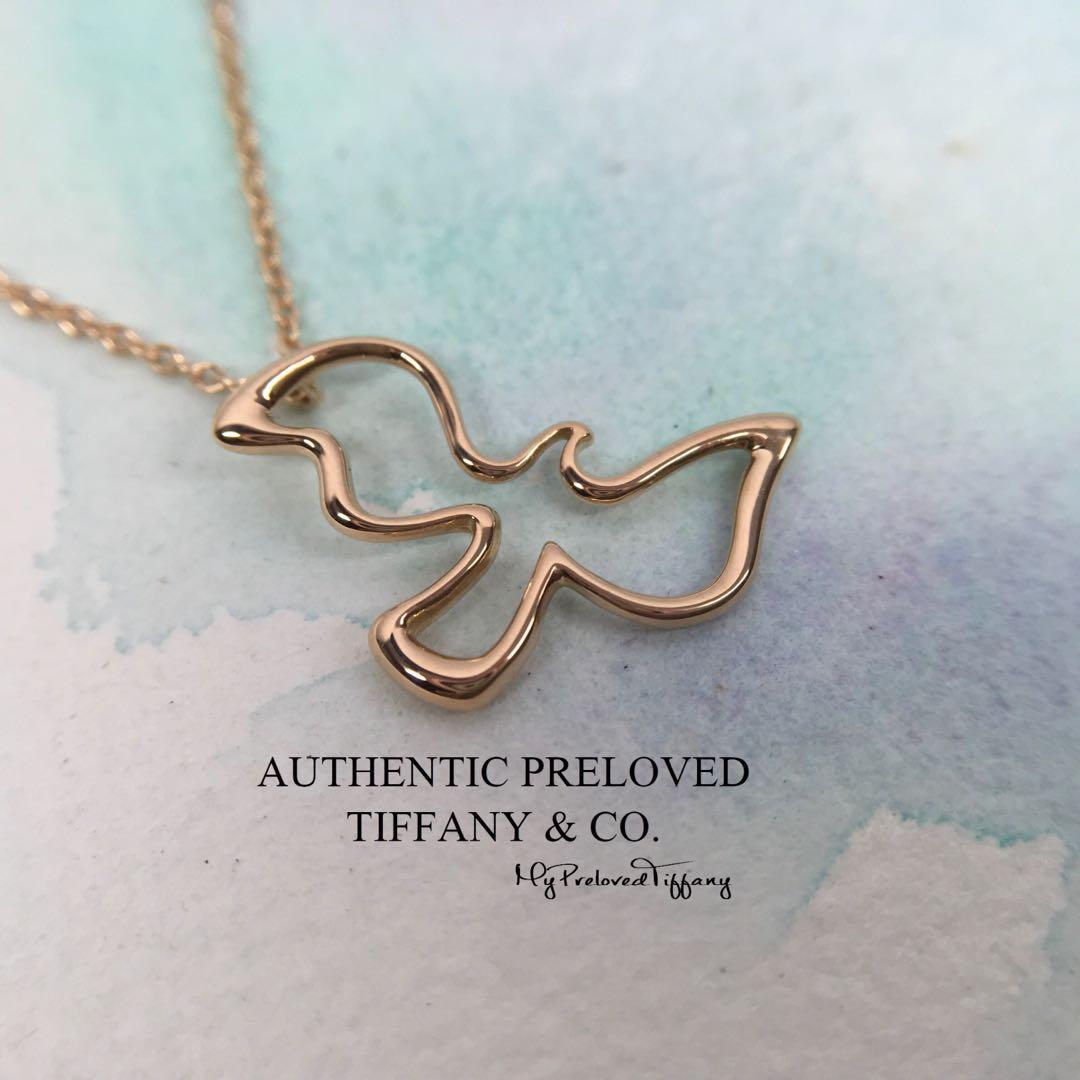 1271a72a766b3 Excellent Authentic Tiffany & Co. Paloma Picasso Dove Rose Gold ...