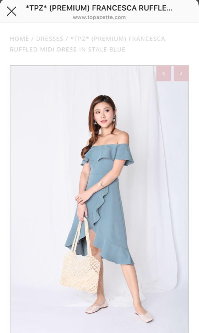 18d766471 Francesca ruffled midi dress, Women's Fashion, Clothes, Dresses ...