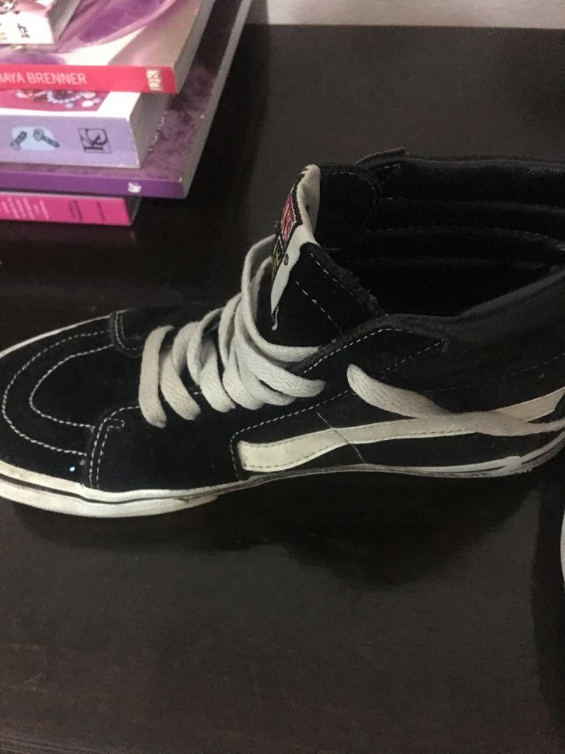 Free postage vans Old Skool Classic Black White High Tops Size Us Womens 5 EUR 36