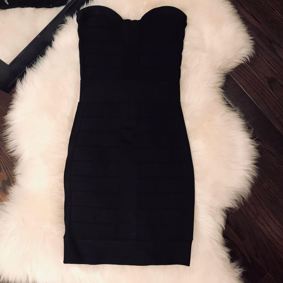 French Connection Black Bandage Dress - size 0 / xs