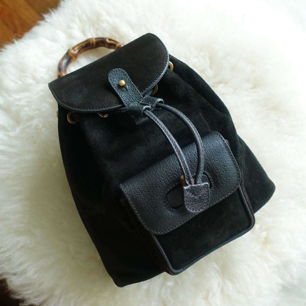 b2a6f8b0058 GUCCI VINTAGE BACKPACK CALFSKIN LEATHER
