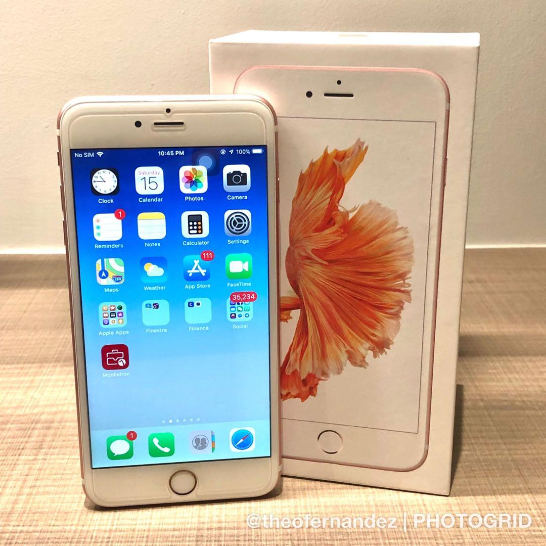 Iphone 6s Plus Rose Gold 128gb Mobile Phones Tablets
