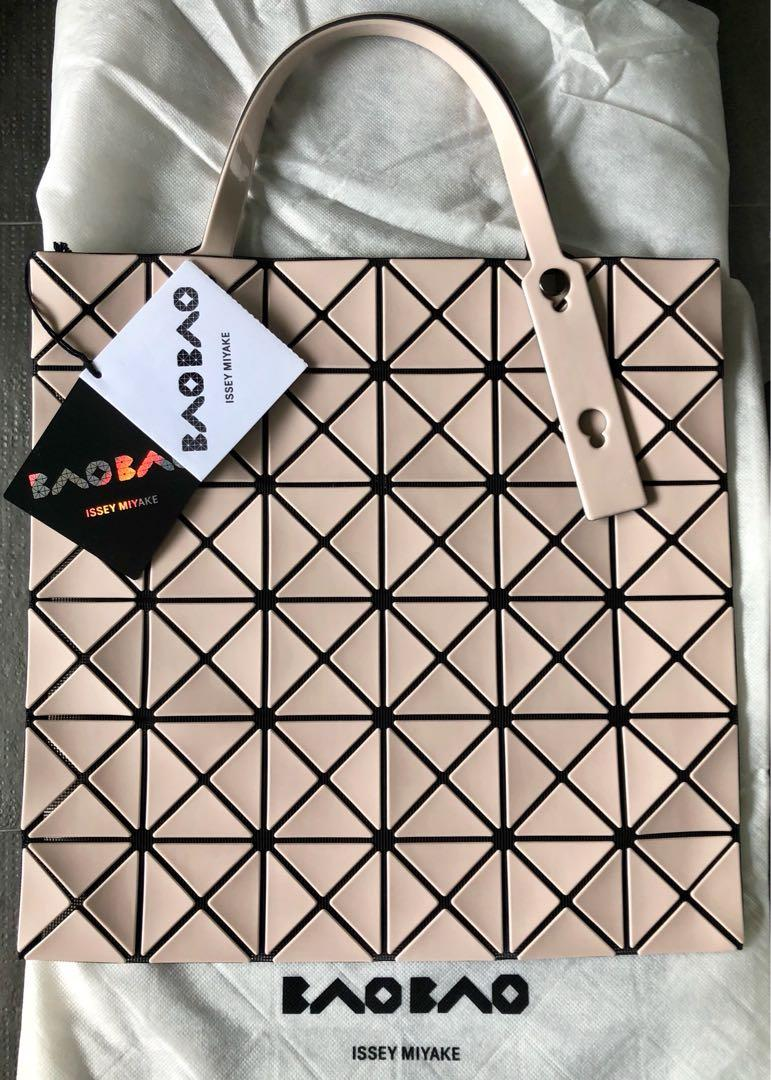 Issey Miyake Bao Bao Brand New 34 X 34cm Lucent Tote Bag In Beige Luxury Bags Wallets Handbags On Carousell