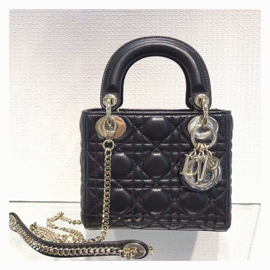 e0c0b4646ec3 Lady Dior mini 3, Luxury, Bags & Wallets, Handbags on Carousell
