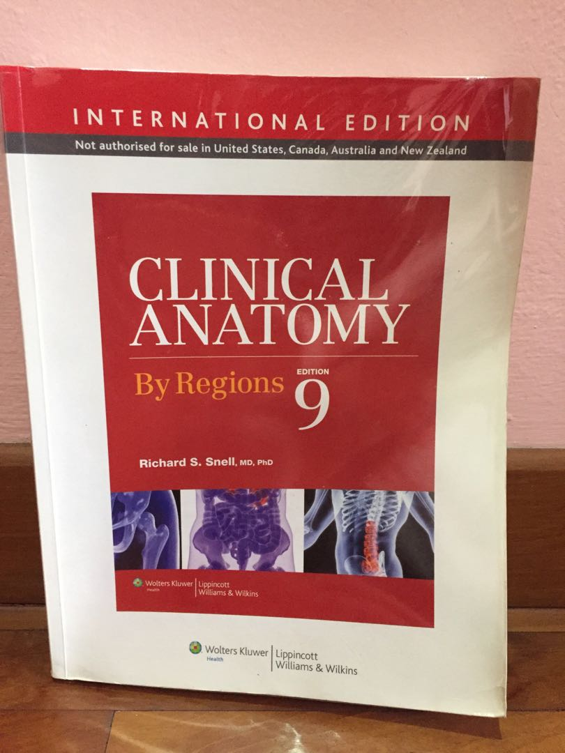 Medical Textbook Snells Clinical Anatomy By Regions 9th Edition