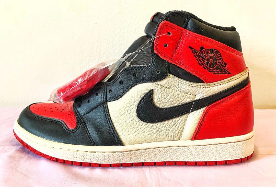 1b0989d3914 Nike Air Jordan 1 Bred Toe, Men's Fashion, Footwear, Sneakers on ...