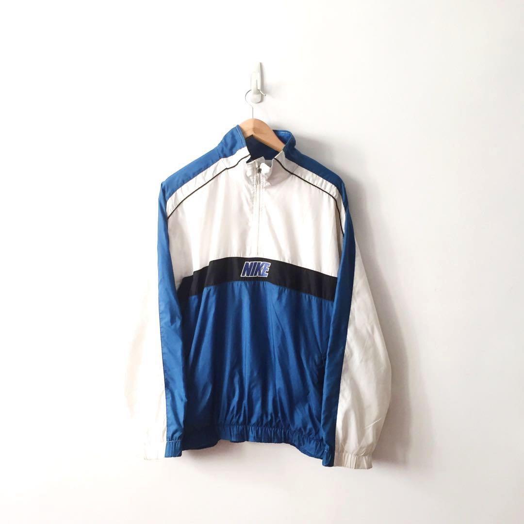 faa2eaeaf Nike Vintage Rare Half Zip Windbreaker Jacket , Men's Fashion ...