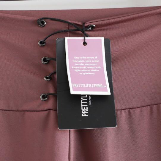 Pretty Little Thing NWT leggings size 0 rose lace up