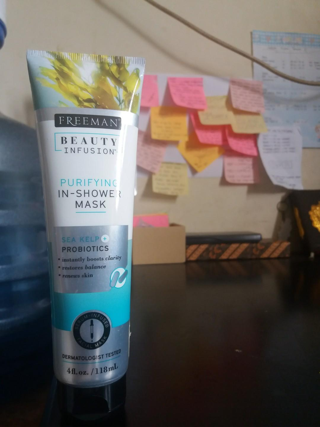 Purifying in-shower mask sea kelp probiotics