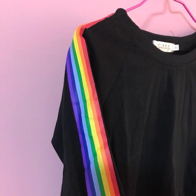 Rainbow black T