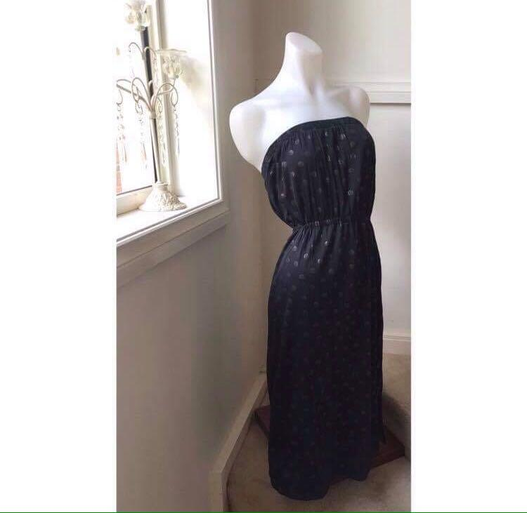 Size S/M (Size 8-10) Maurie & Eve Black Strapless dress