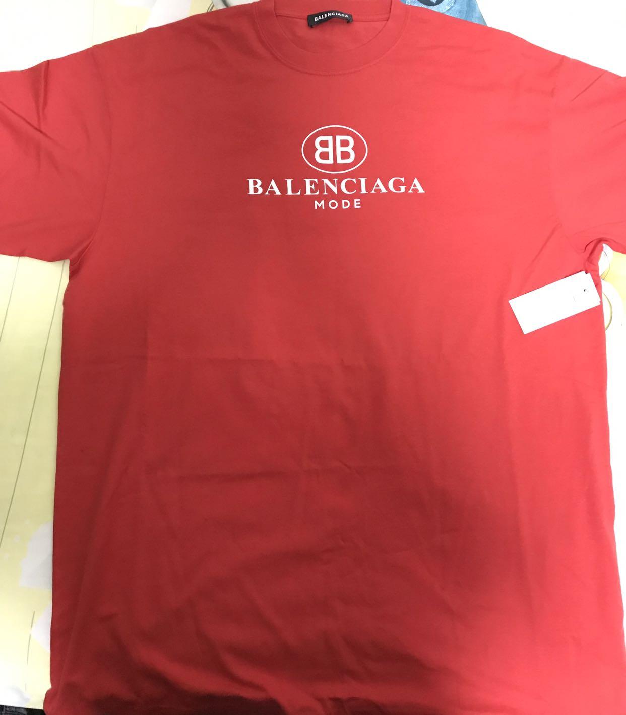 74191e917e8f STEAL> Balenciaga BB Mode Red T-shirt, Men's Fashion, Clothes, Tops ...