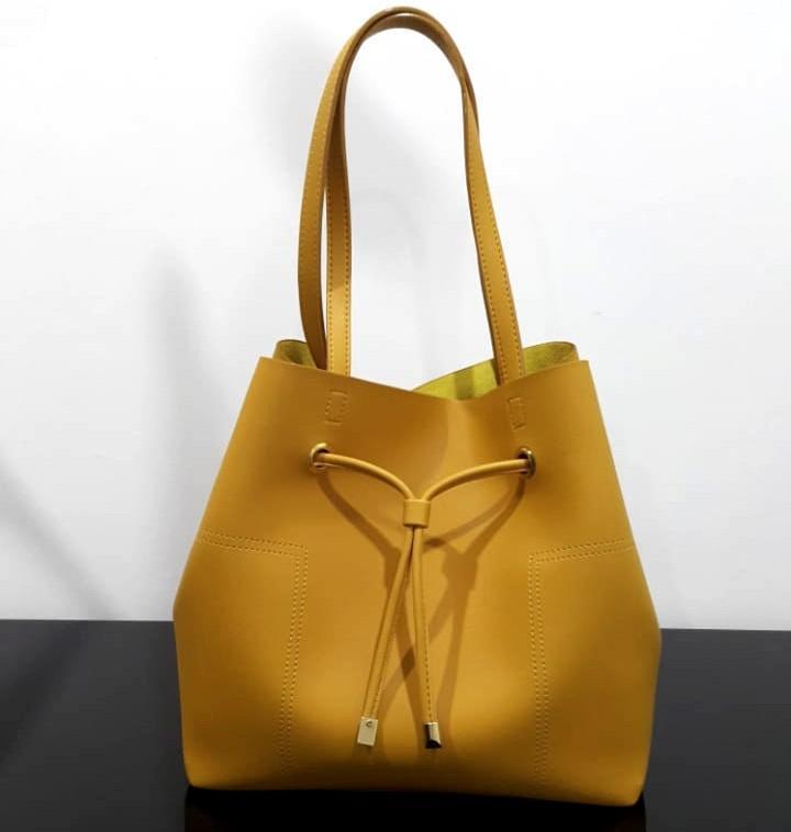 Yellow totebag