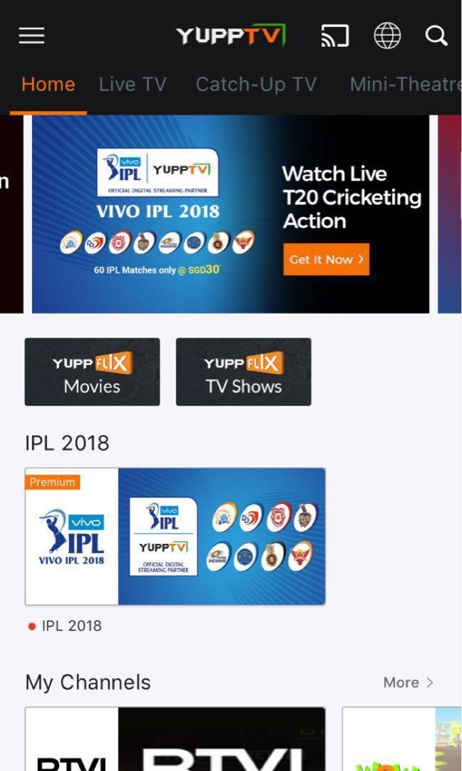 YuppTV package transfer