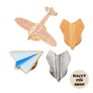 🚚 [AVAIL] Plane pins: Enamel Pin, Gold pins, Silver pins