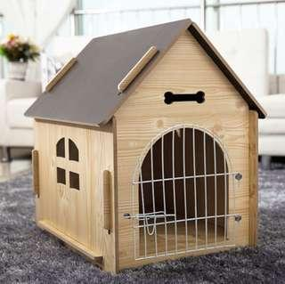 (New!) pet wood house bed with gate