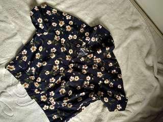 Button up floral print top